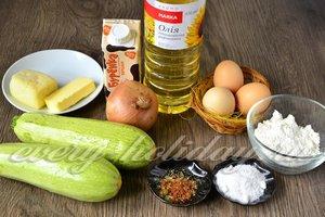 Ингредиенты для приготовления кабачкового пирога