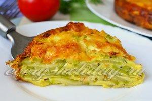 рецепт пирога с кабачком и сыром