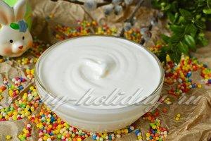 Глазурь для кулича с сахарной пудрой и белком