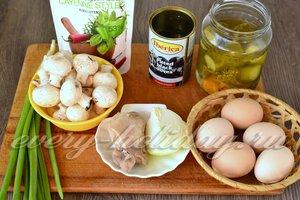 Ингредиенты для приготовления салата Березка