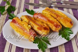 Сосиски в кляре на сковороде рецепт с фото