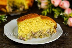 Заливной пирог с капустной начинкой