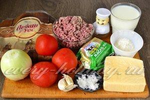 Ингредиенты для приготовления лазаньи из лаваша