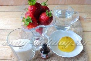 Ингредиенты для приготовления клубничного десерта