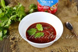Соус для шашлыка с кинзой и томатной пастой