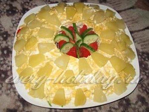 Салатс ананасами
