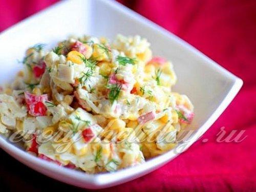 рецепты салатов с мясом и кукурузой