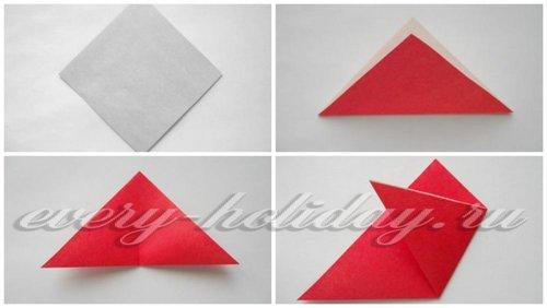 Схема выполнения оригами