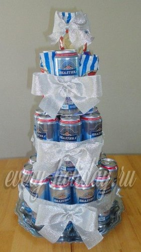 торт из пива для мужчины на день рождения фото