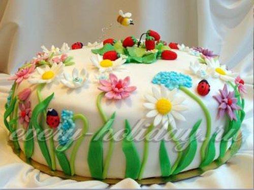 Как украсить торт фото пошагово