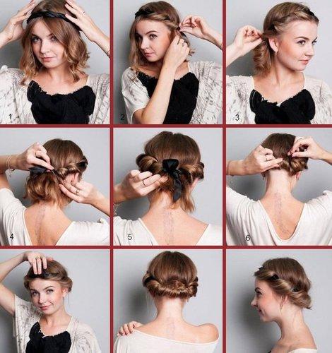 прически на 1 сентября на средние волосы в домашних условиях