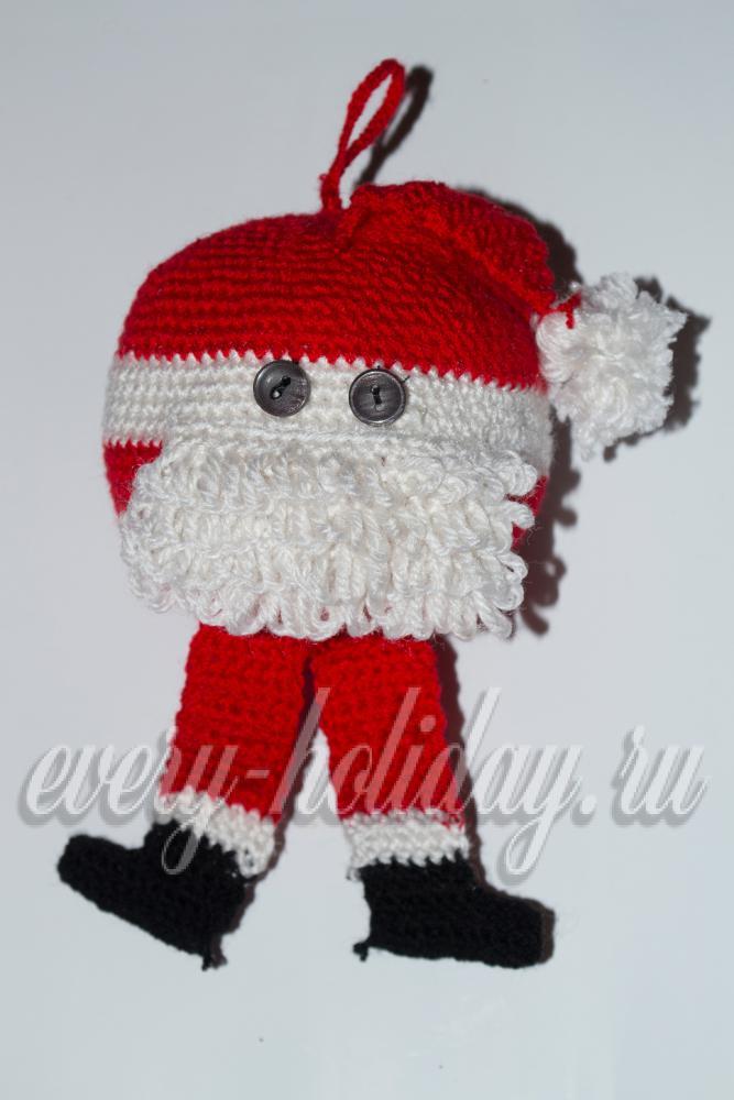 Санта Клаус крючком: мастер-класс со схемой и описанием