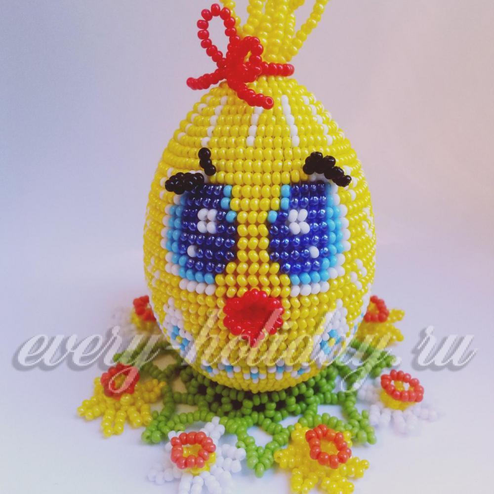 Пасхальное яйцо из бисера со схемами фото 763