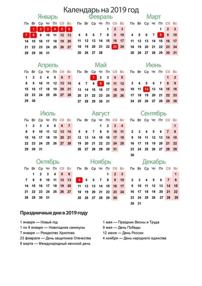 Праздничные дни в январе 2019. Как отдыхаем в России рекомендации