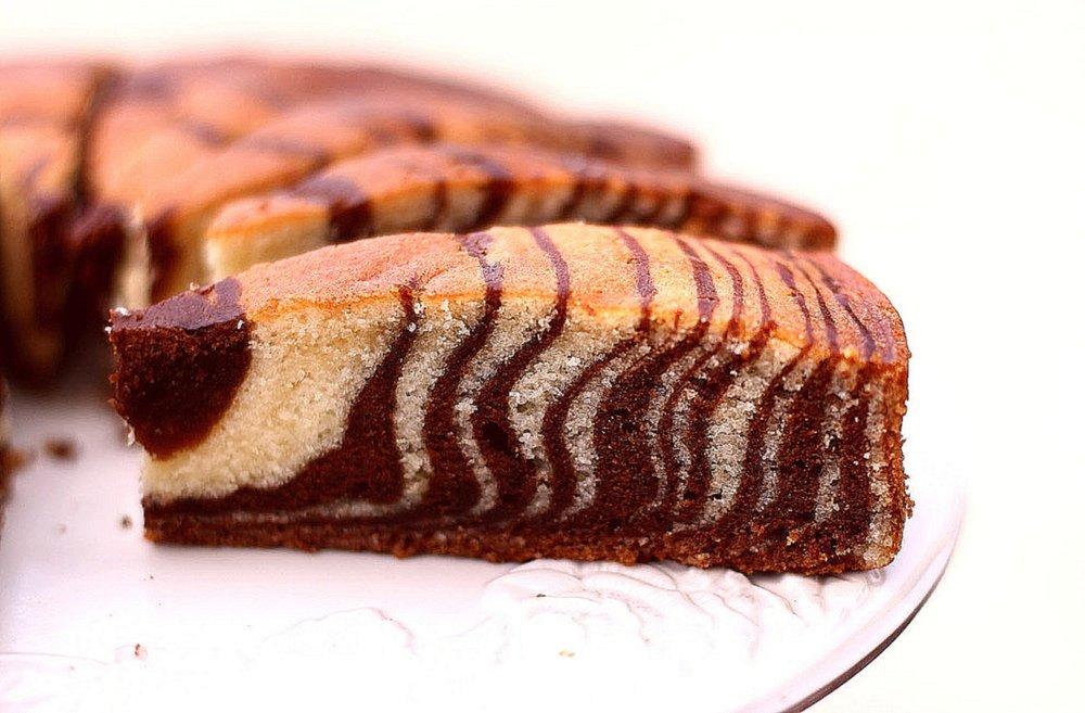 Мраморный пирог рецепт с фото пошагово плетение