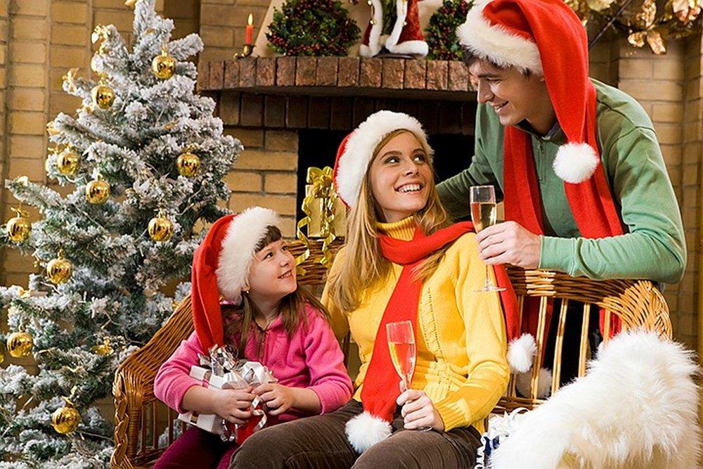 Картинка праздник новый год семья на английском