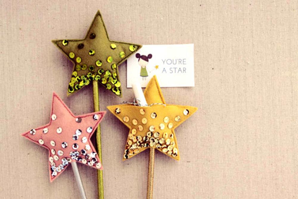 Звезды для поздравления своими руками, дню