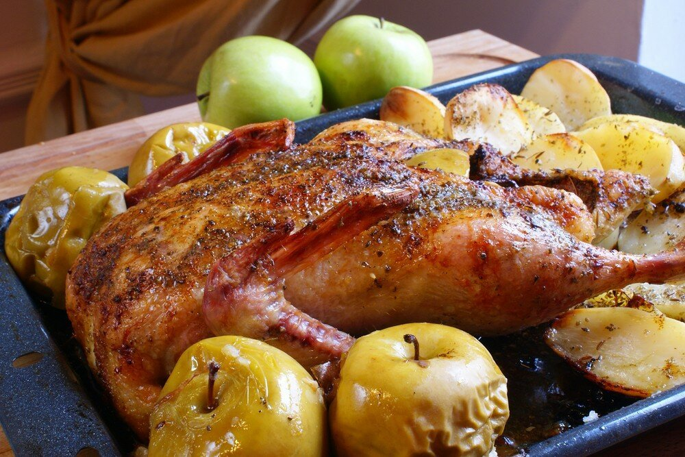 если могучий блюда из курицы гуся утки рецепты фото росы траве переливаются