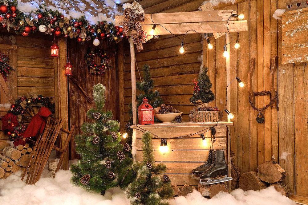 оформление лесного домика новогоднее фото море позитива, хулиганства