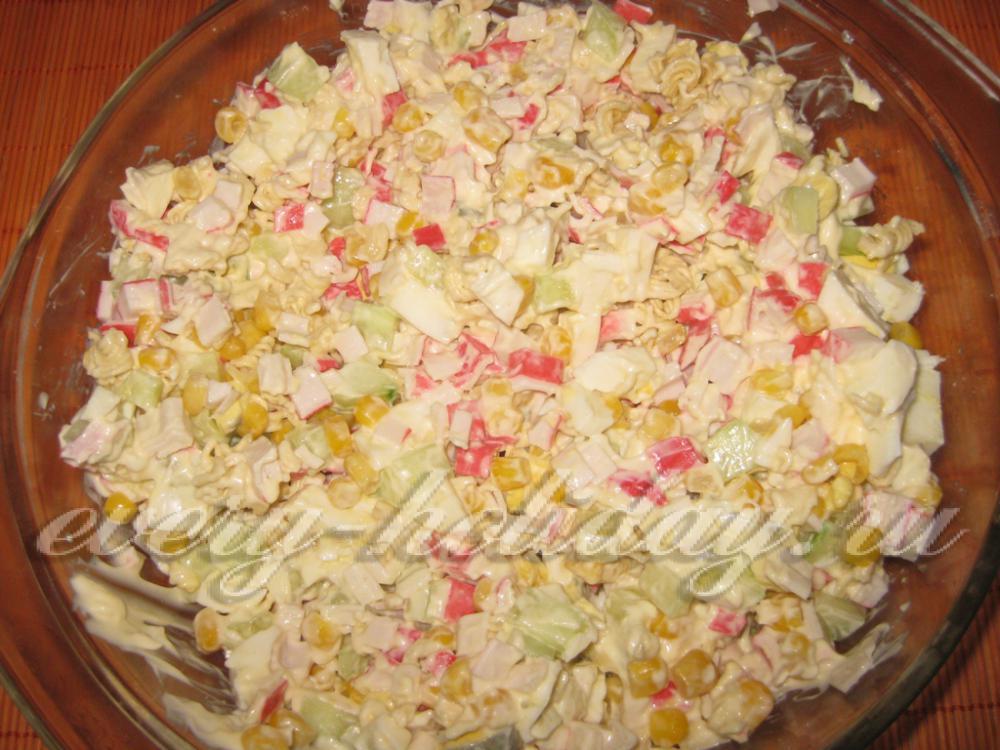 салат из крабовых палочек для похудения