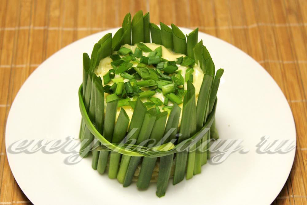 украшения из зеленого лука фото