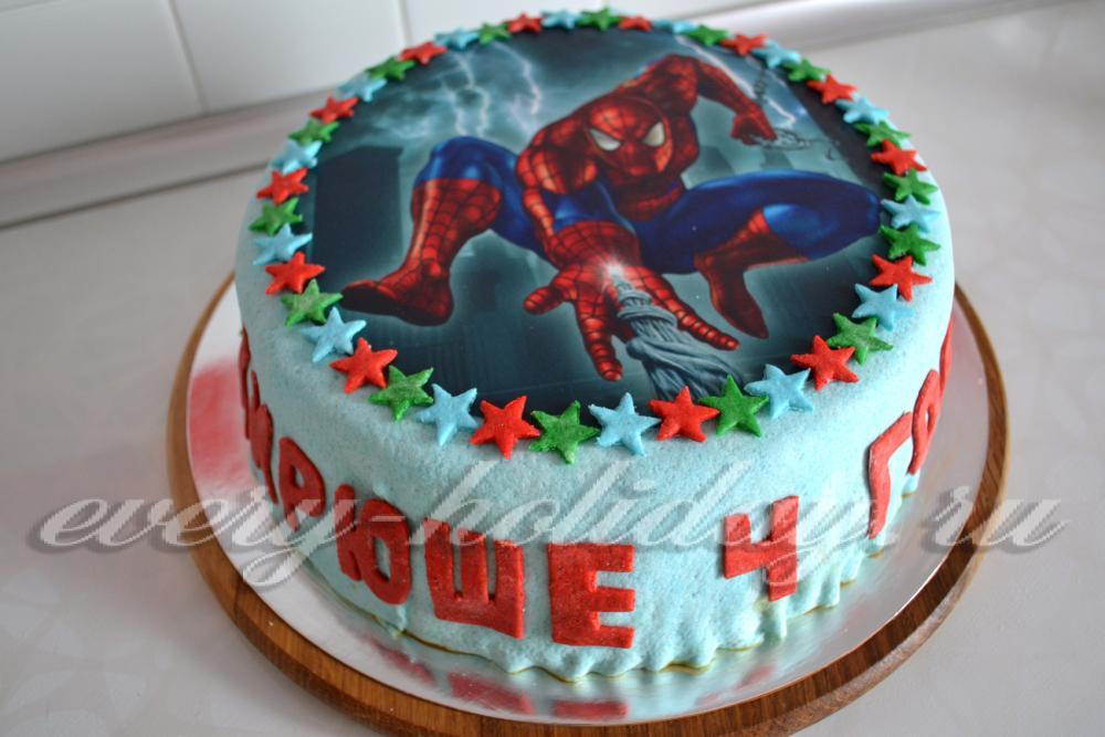 торт с сахарной картинкой человек паук фото дешевые авиабилеты