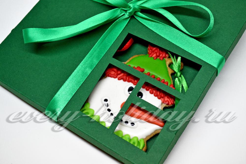 """Печенье-подарок """"Снеговик"""" своими руками"""