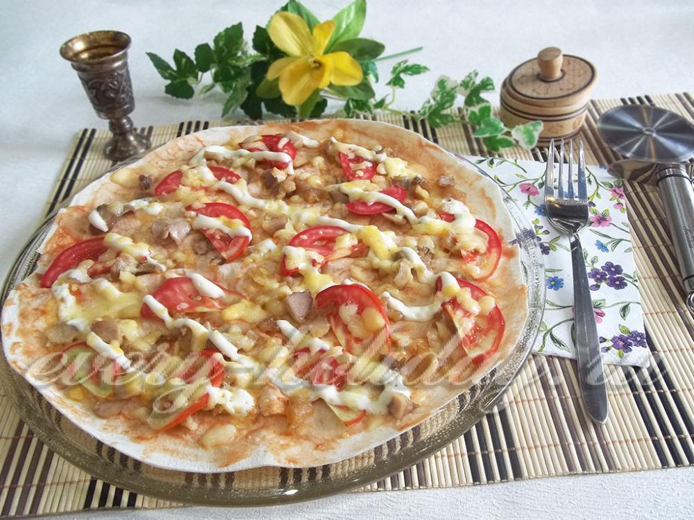рецепт пиццы на лаваше в микроволновке