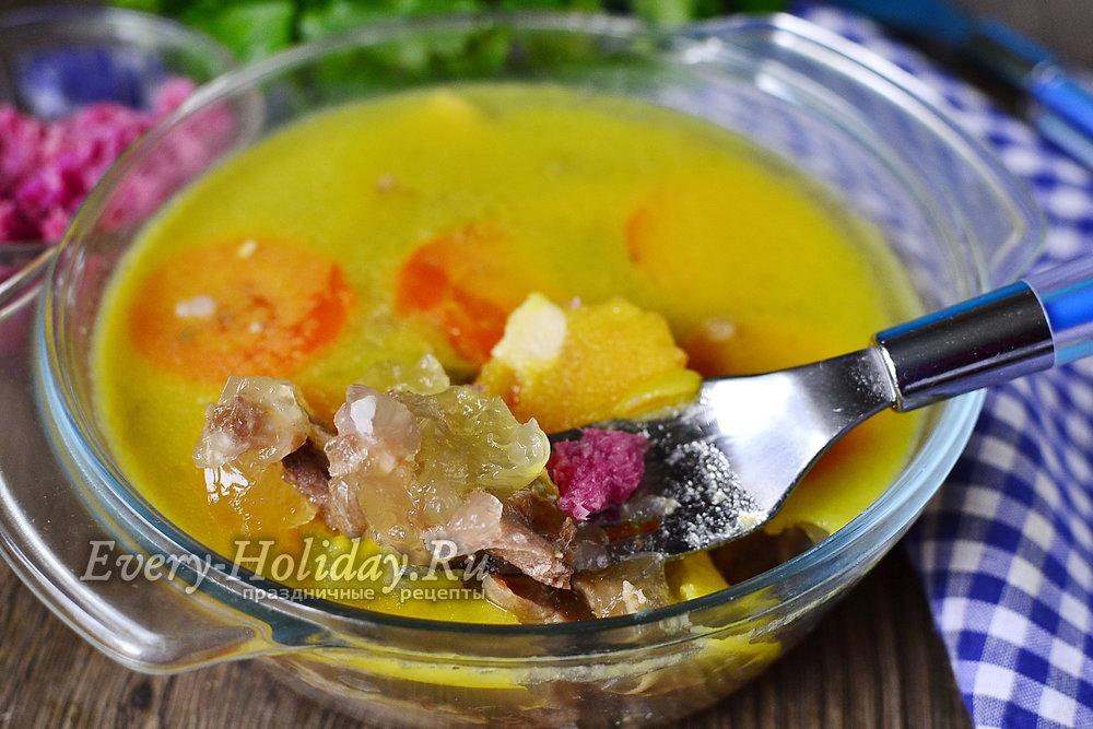 холодец из индейки рецепт с фото пошагово с желатином