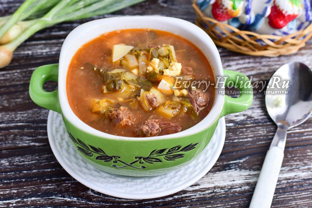 щавелевый суп с тушенкой рецепт с фото