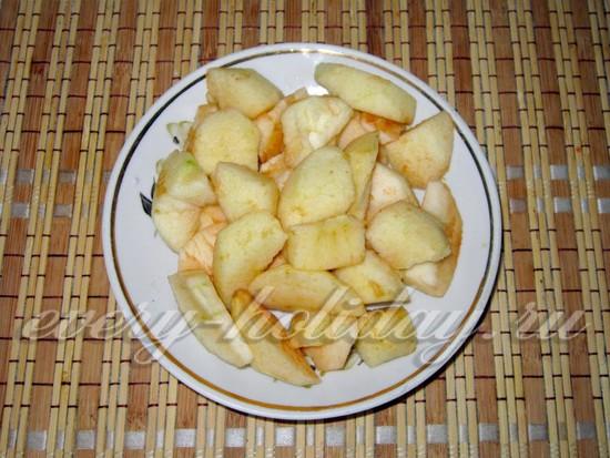 яблочки нарезать