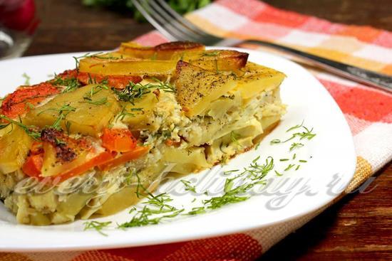 рецепт рыбной запеканки с овощами