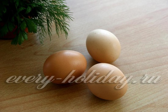 яйца отварить
