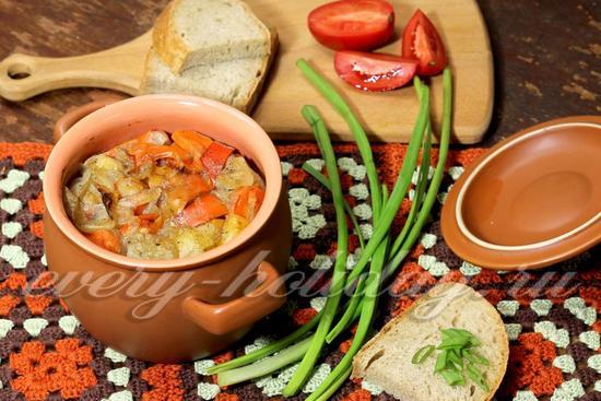 рецепт картошки с мясом и овощами в духовке
