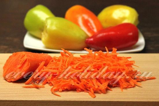 Морковку натрем на крупной терке