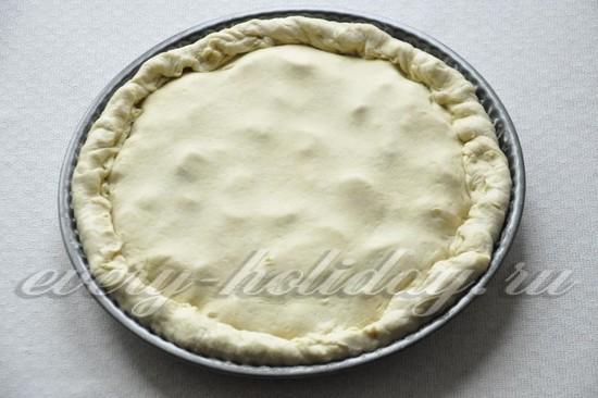 защипнуть края пирога