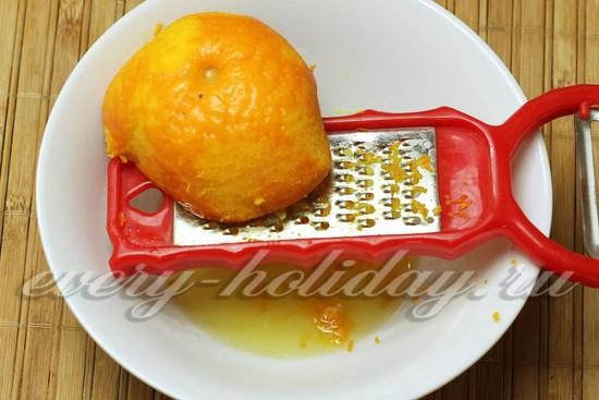 Апельсиновую цедру натереть