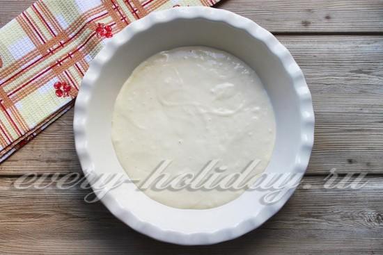 Постный пирог с рыбой, пошаговый рецепт с фото
