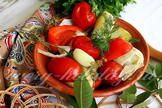рецепт заготовки Огород