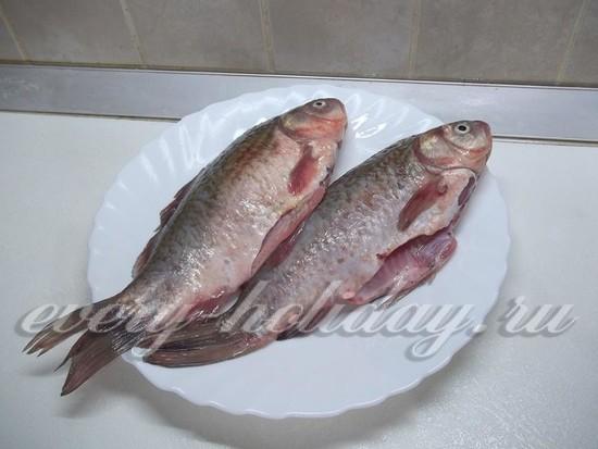Рыба очищена