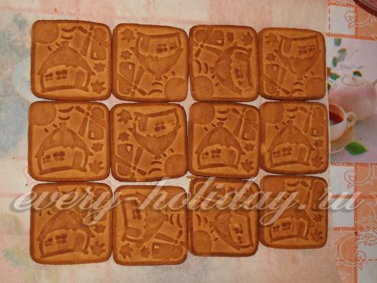 выложить печенье в форме прямоугольника