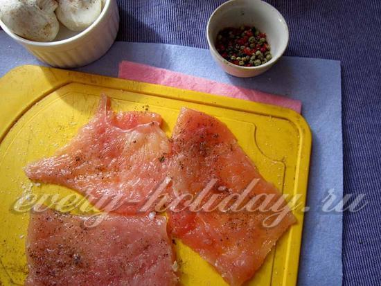 посыпать солью и перцем