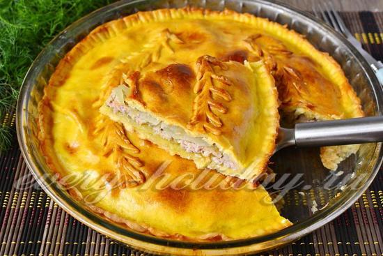 Пирог с мясом в духовке, пошаговый рецепт с фото