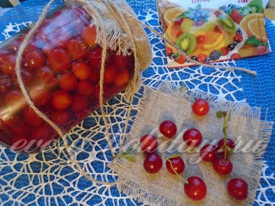рецепт вишни в желе на зиму