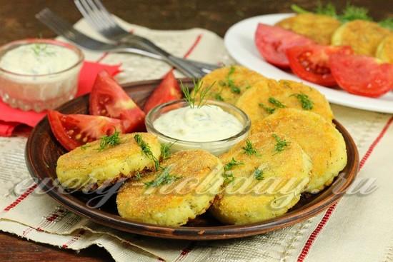 Рецепт Несладких сырников с картофелем и зеленью