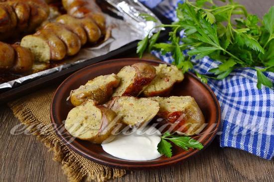 Рецепт картофельной колбаса