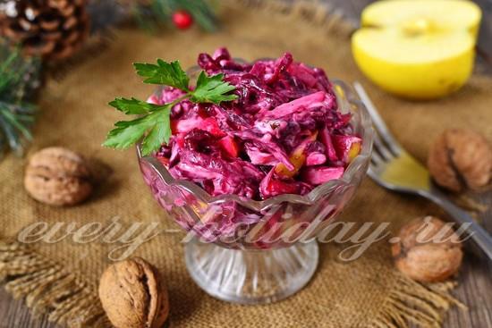 Рецепт салата из свеклы