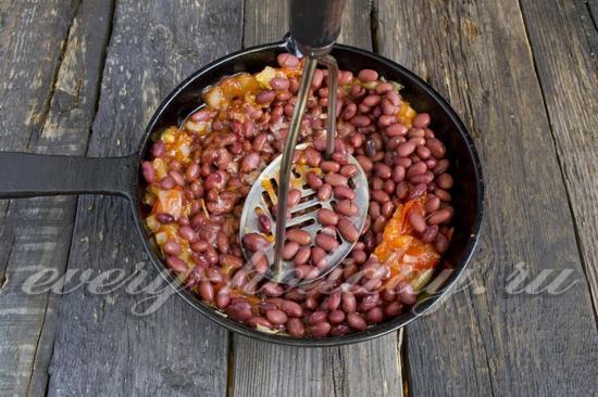 Лобио с грецкими орехами - рецепт пошаговый с фото