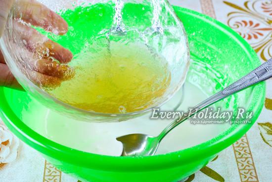 Влить желатин