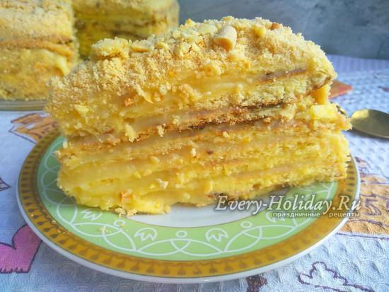 торт Наполеон на сковороде
